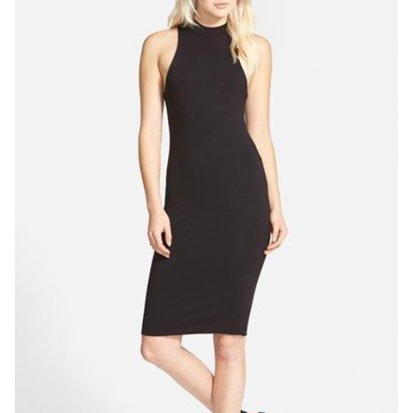 Leith Dresses & Skirts - Leith Black Ribbed Midi Dress!